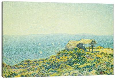 L'Ile du Levant, vu du Cap Benat, 1893 Canvas Art Print
