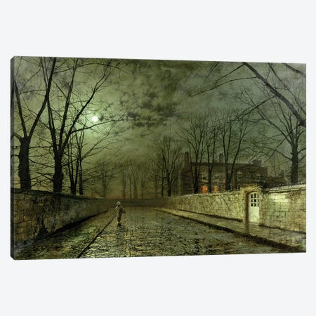 Silver Moonlight Canvas Print #BMN9507} by John Atkinson Grimshaw Canvas Print