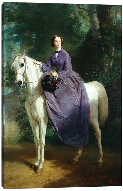 Empress Eugenie, 1857 Canvas Art Print