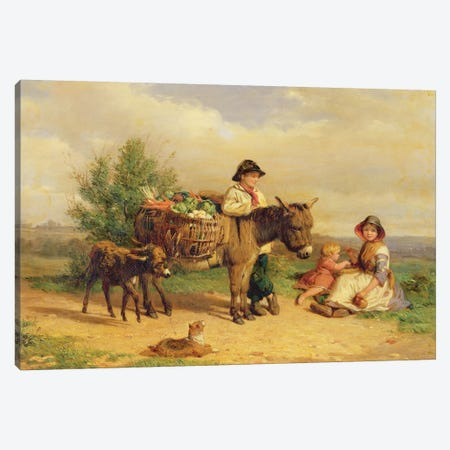 A Pause on the Way to Market Canvas Print #BMN950} by J.O. Banks Canvas Wall Art