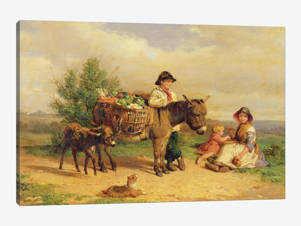 A Pause on the Way to Market by J.O. Banks 1-piece Canvas Art