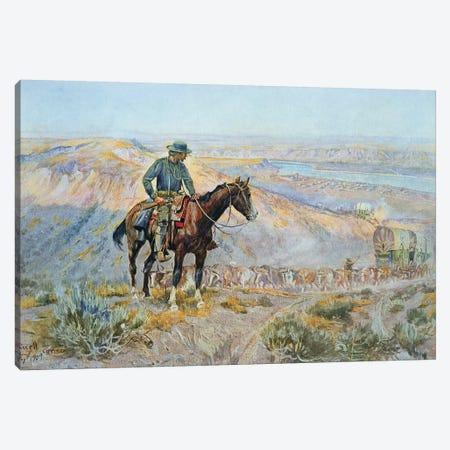 The Wagon Boss Canvas Print #BMN9513} by Charles Marion Russell Canvas Art Print