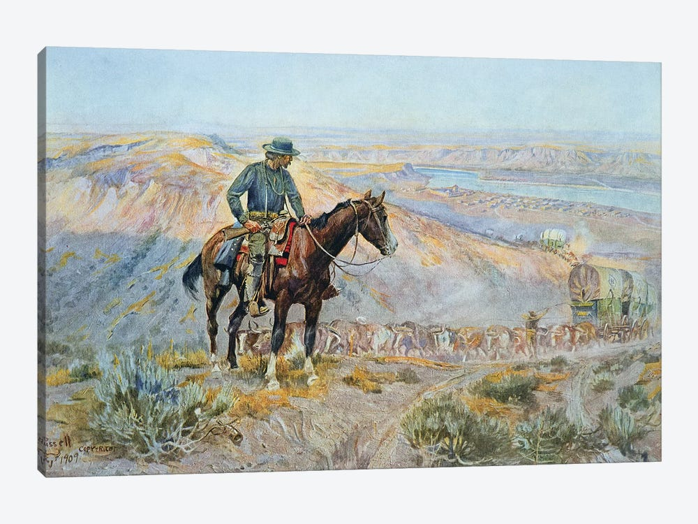 The Wagon Boss by Charles Marion Russell 1-piece Canvas Artwork