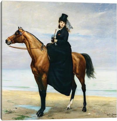 Equestrian Portrait of Mademoiselle Croizette, 1873 Canvas Art Print
