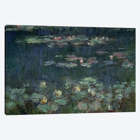 Waterlilies: Green Reflections, 1914-18  Canvas Print #BMN951} by Claude Monet Canvas Wall Art