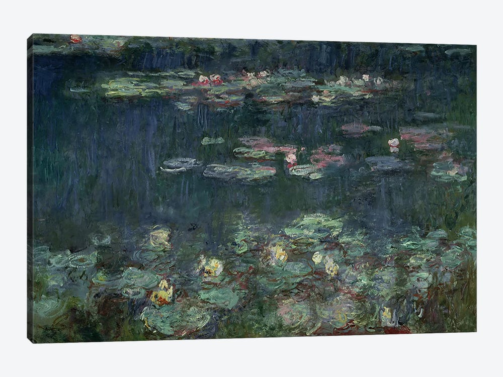 Waterlilies: Green Reflections, 1914-18  by Claude Monet 1-piece Canvas Print