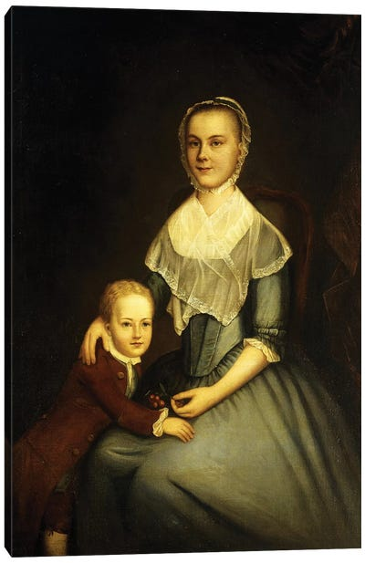Portrait of Mrs Arbuckle and Son Canvas Art Print