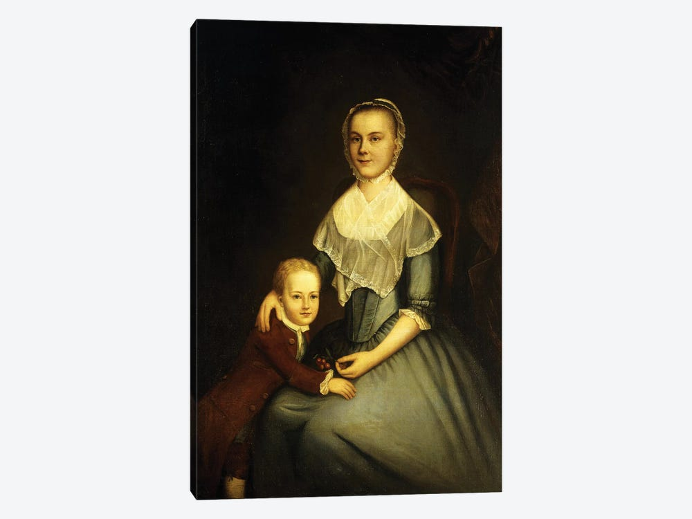 Portrait of Mrs Arbuckle and Son by Charles Willson Peale 1-piece Canvas Art