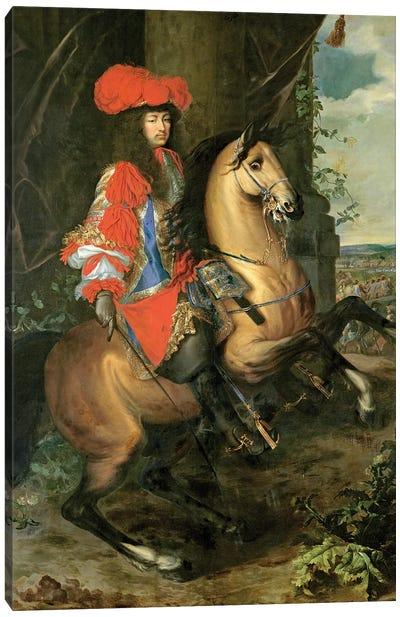 Equestrian Portrait of Louis XIV Canvas Art Print
