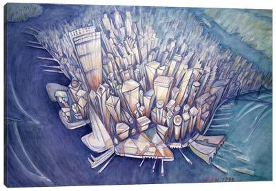 Manhattan from Above, 1994 Canvas Art Print