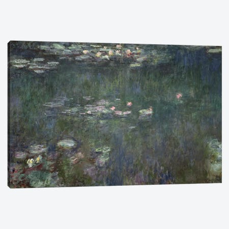 Waterlilies: Green Reflections, 1914-18  Canvas Print #BMN952} by Claude Monet Canvas Art
