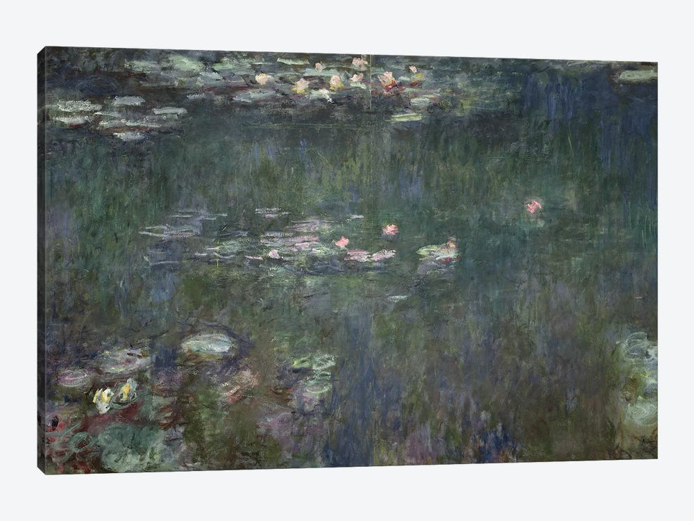 Waterlilies: Green Reflections, 1914-18  by Claude Monet 1-piece Canvas Artwork