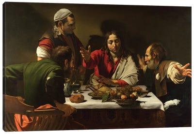 The Supper at Emmaus, 1601 Canvas Art Print