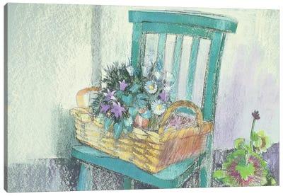 Campanulas and Daisies Canvas Art Print
