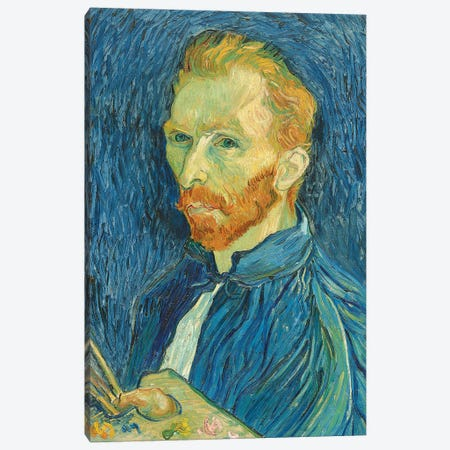 Self-Portrait, 1889 3-Piece Canvas #BMN9541} by Vincent van Gogh Canvas Artwork