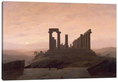 The Temple of Juno in Agrigento, by Caspar David Friedrich . Canvas Art Print