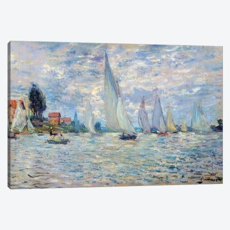 The boats. Regates a Argenteuil Painting Canvas Print #BMN9547} by Claude Monet Canvas Print