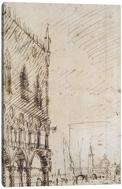 Venice: The south-west Angle of the Doge's Palace Canvas Art Print