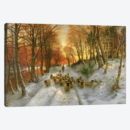 Glowed with Tints Of Evening Hours Canvas Print #BMN9561} by Joseph Farquharson Canvas Wall Art