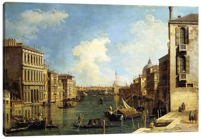 The Grand Canal, Venice, Looking East from the Campo di San Vio, Canvas Art Print