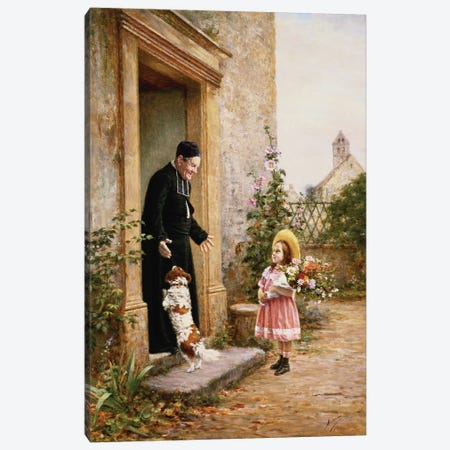 The Priest's Birthday Canvas Print #BMN956} by Vincent Chevilliard Canvas Print
