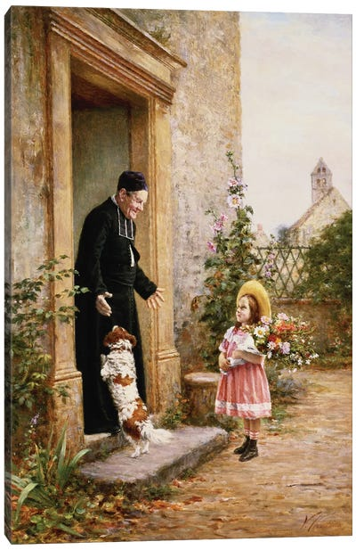 The Priest's Birthday Canvas Art Print