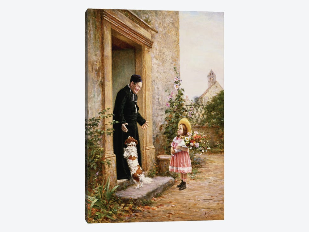The Priest's Birthday by Vincent Chevilliard 1-piece Canvas Wall Art
