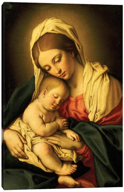 The Madonna And Child Canvas Art Print