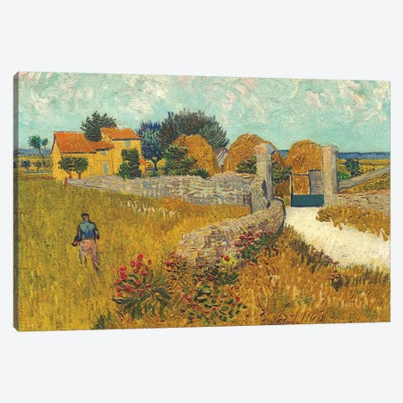 Farmhouse in Provence, 1888 Canvas Print #BMN9580} by Vincent van Gogh Canvas Art