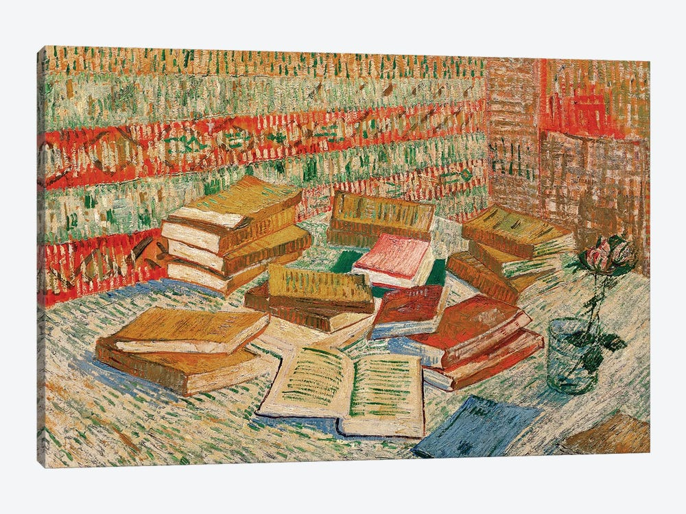 The Yellow Books, 1887 by Vincent van Gogh 1-piece Canvas Print
