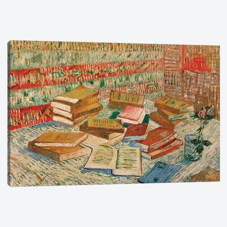 The Yellow Books, 1887 Canvas Print #BMN9581} by Vincent van Gogh Canvas Wall Art