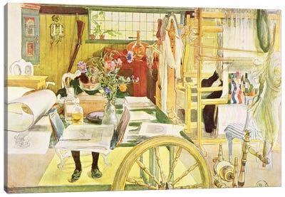 The Workroom, pub. in 'Lasst Licht Hinin' , 1909 Canvas Art Print