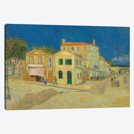 The Yellow House, 1888 Canvas Print #BMN9589} by Vincent van Gogh Canvas Art