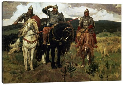 Warrior Knights, 1881-98  Canvas Art Print