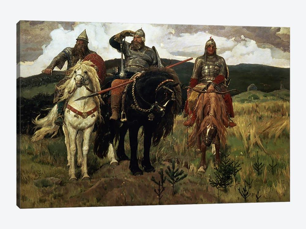 Warrior Knights, 1881-98  by Victor Mikhailovich Vasnetsov 1-piece Canvas Wall Art