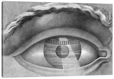 Eye enclosing the theatre at Besancon, France, 1847  Canvas Art Print