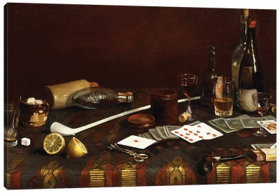 A Gentlemans Table,  Canvas Art Print