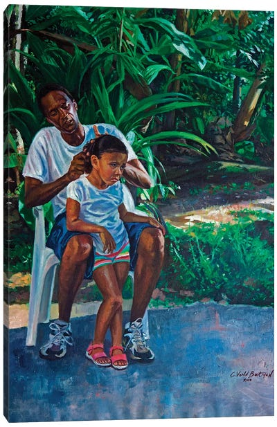 Grandfather and Child, 2010  Canvas Art Print