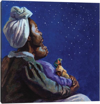 Under the Midnight Blues, 2003  Canvas Art Print
