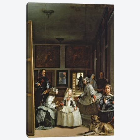 Las Meninas or The Family of Philip IV, c.1656  Canvas Print #BMN9603} by Diego Rodriguez de Silva y Velazquez Art Print