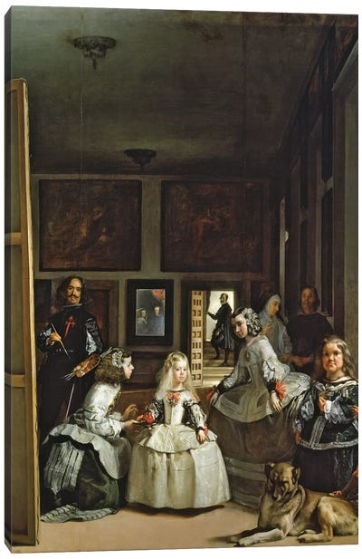 Las Meninas or The Family of Philip IV, c.1656  Canvas Art Print