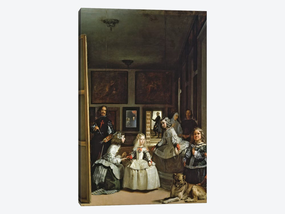 Las Meninas or The Family of Philip IV, c.1656  by Diego Rodriguez de Silva y Velazquez 1-piece Canvas Print