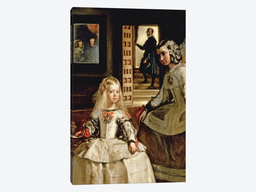 Las Meninas, detail of the Infanta Margarita and her maid, 1656   by Diego Rodriguez de Silva y Velazquez 1-piece Canvas Art