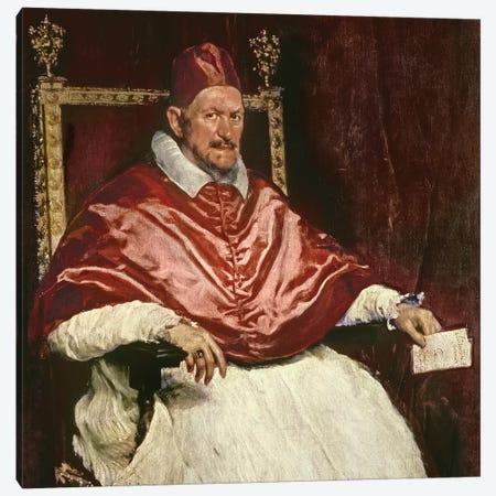 Portrait of Pope Innocent X , 1650  Canvas Print #BMN9606} by Diego Rodriguez de Silva y Velazquez Canvas Art