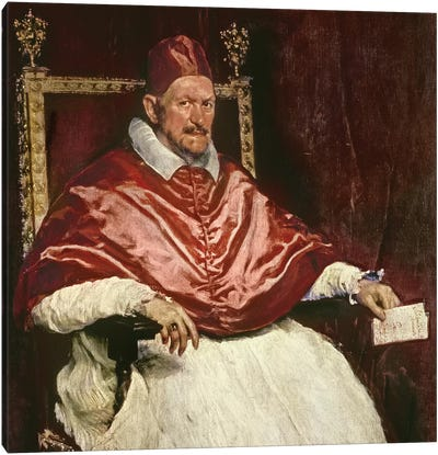 Portrait of Pope Innocent X , 1650  Canvas Art Print