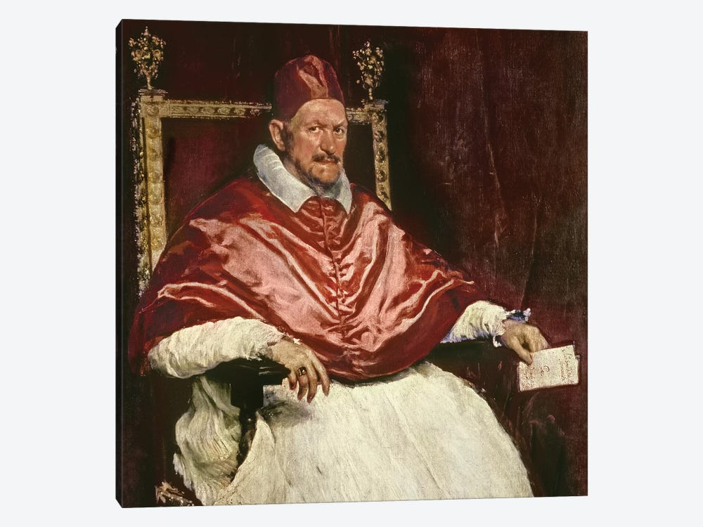 Portrait of Pope Innocent X , 1650  by Diego Rodriguez de Silva y Velazquez 1-piece Canvas Art