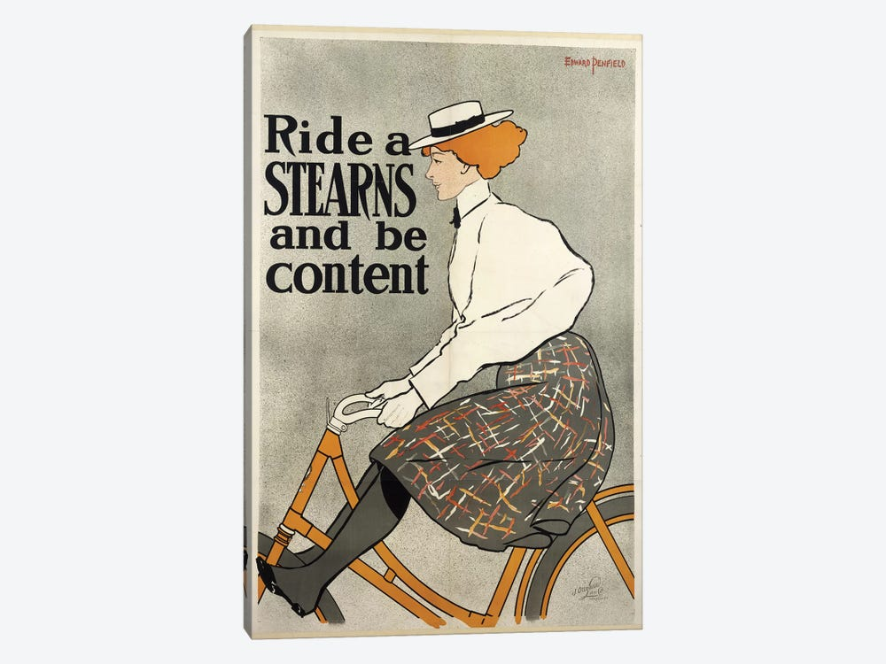 Ride a Stearns and be Content, c.1896  by Edward Penfield 1-piece Canvas Art