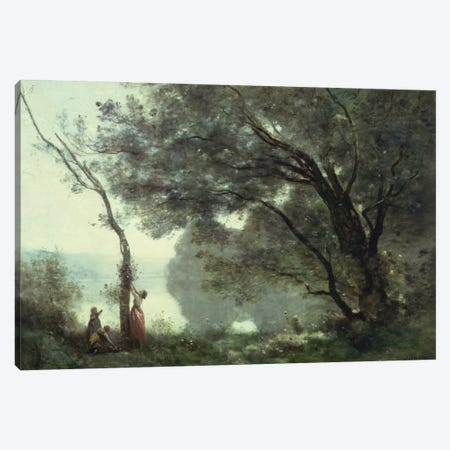 Recollections of Mortefontaine, 1864  Canvas Print #BMN960} by Jean-Baptiste-Camille Corot Canvas Print