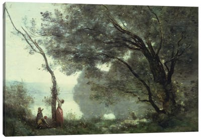 Recollections of Mortefontaine, 1864  Canvas Art Print