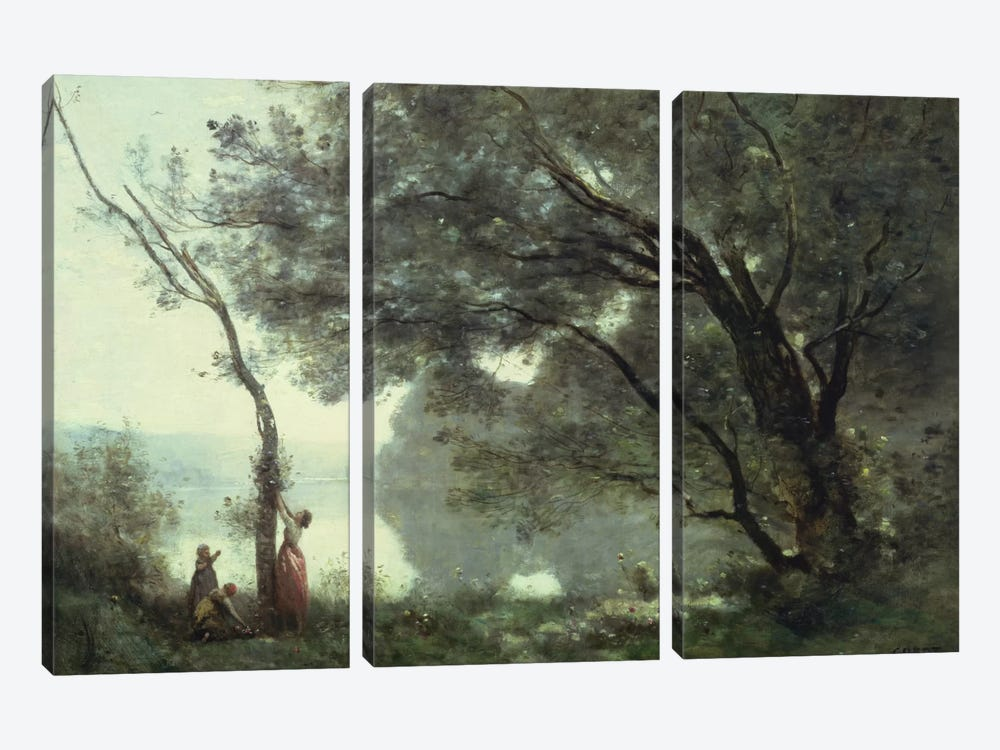 Recollections of Mortefontaine, 1864 by Jean-Baptiste-Camille Corot 3-piece Art Print